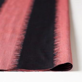 コットン×幾何学模様(レッド&ブラック)×二重織ジャガード サムネイル3