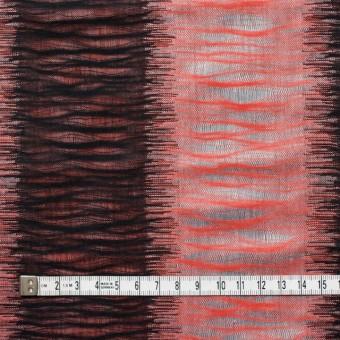 コットン×幾何学模様(レッド&ブラック)×二重織ジャガード サムネイル5