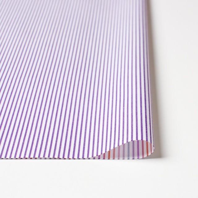コットン×ストライプ(パープル&レインボーミックス)×ブロードジャガード_全2色 イメージ3