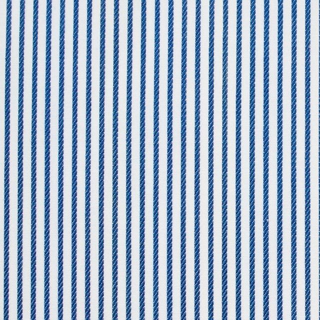 コットン×ストライプ(アイアンブルー&レインボーミックス)×ブロードジャガード_全2色 イメージ1