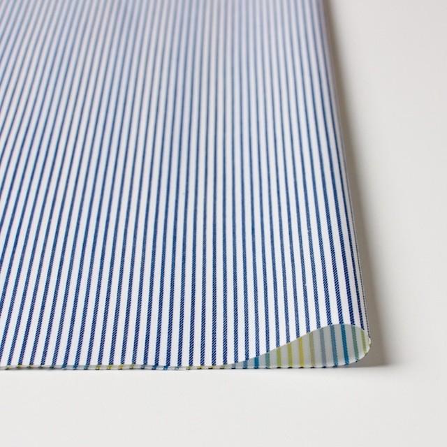 コットン×ストライプ(アイアンブルー&レインボーミックス)×ブロードジャガード_全2色 イメージ3