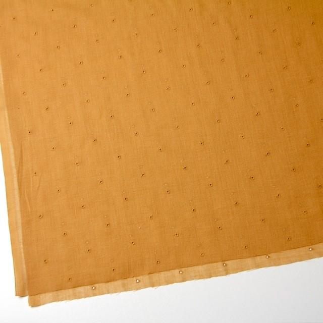 コットン×ドット(ターメリック)×ガーゼ刺繍_全2色 イメージ2