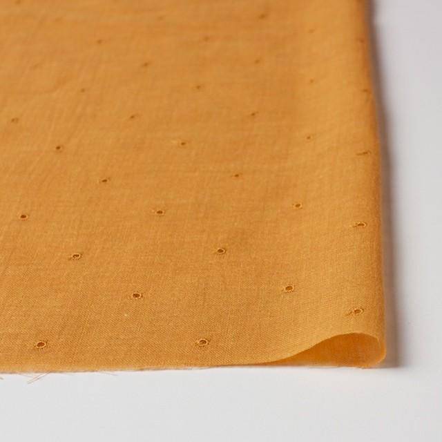 コットン×ドット(ターメリック)×ガーゼ刺繍_全2色 イメージ3