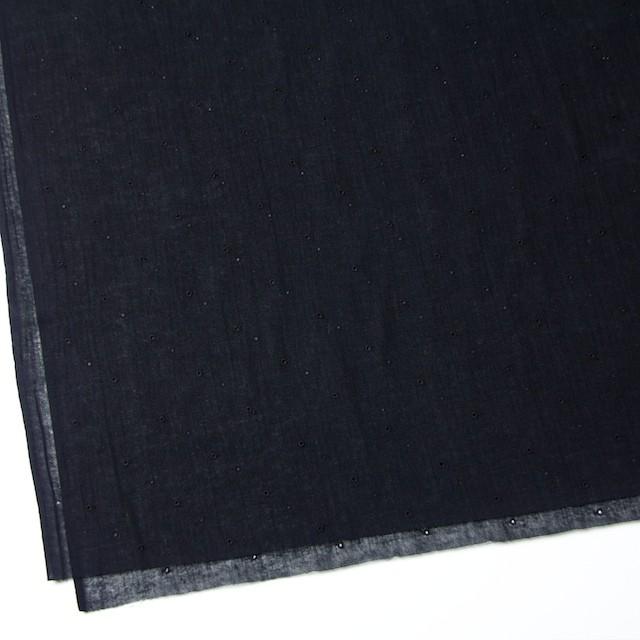 コットン×ドット(ブラック)×ガーゼ刺繍_全2色 イメージ2