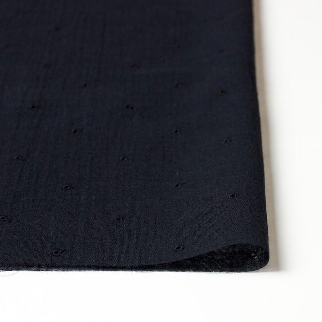 コットン×ドット(ブラック)×ガーゼ刺繍_全2色 イメージ3