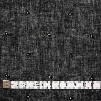 コットン×ドット(ブラック)×ガーゼ刺繍_全2色 サムネイル4