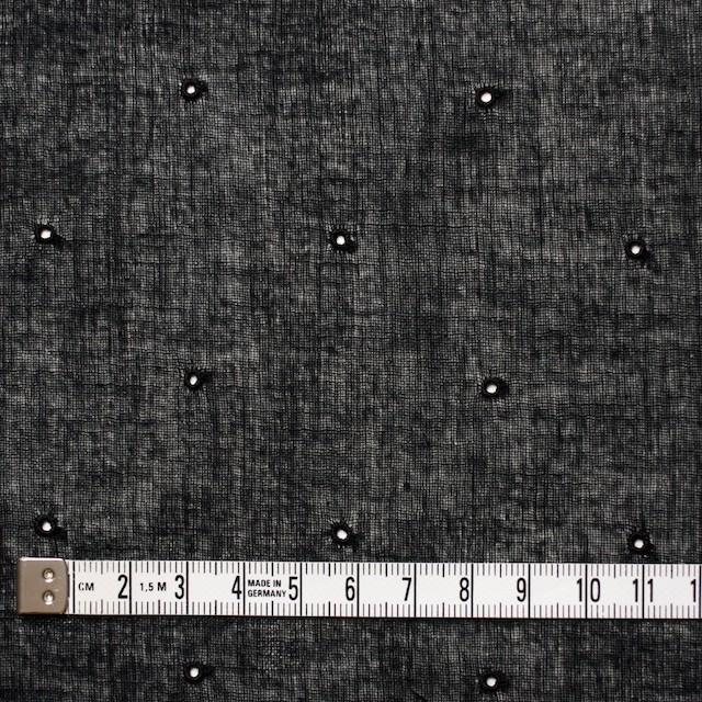コットン×ドット(ブラック)×ガーゼ刺繍_全2色 イメージ4