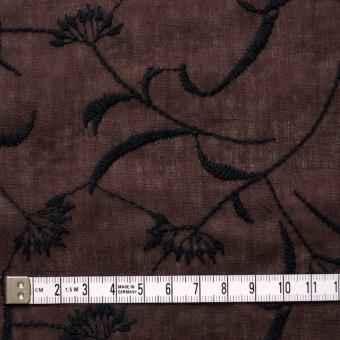 コットン&リネン×フラワー(ブラウン)×薄シーチング刺繍_全3色 サムネイル4