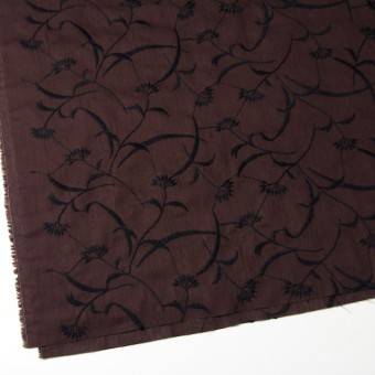 コットン&リネン×フラワー(ブラウン)×薄シーチング刺繍_全3色 サムネイル2