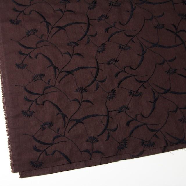 コットン&リネン×フラワー(ブラウン)×薄シーチング刺繍_全3色 イメージ2
