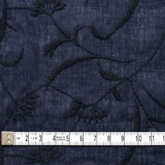 コットン&リネン×フラワー(ネイビー)×薄シーチング刺繍_全3色 サムネイル4