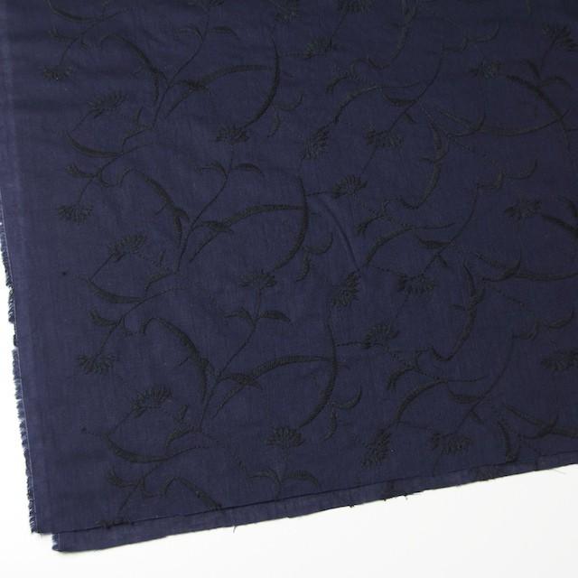 コットン&リネン×フラワー(ネイビー)×薄シーチング刺繍_全3色 イメージ2