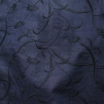 コットン&リネン×フラワー(ネイビー)×薄シーチング刺繍_全3色 サムネイル5