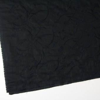 コットン&リネン×フラワー(ブラック)×薄シーチング刺繍_全3色 サムネイル2