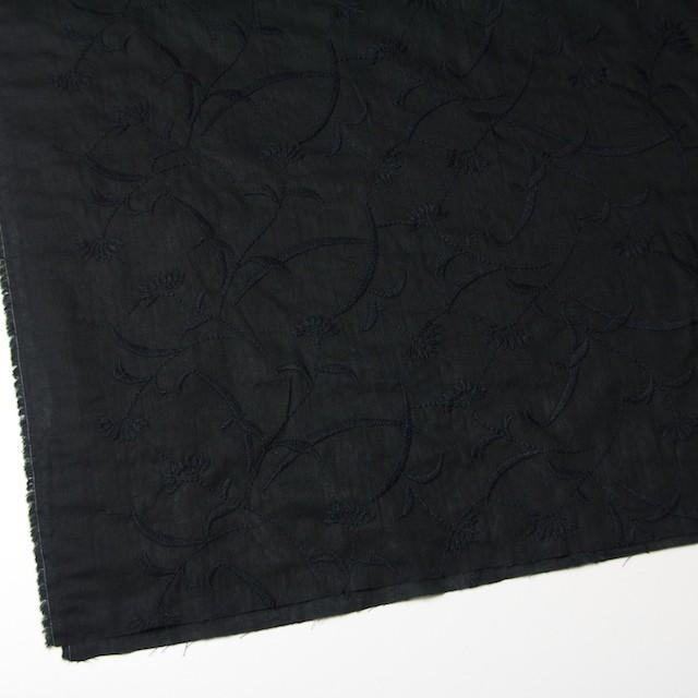 コットン&リネン×フラワー(ブラック)×薄シーチング刺繍_全3色 イメージ2