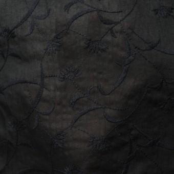 コットン&リネン×フラワー(ブラック)×薄シーチング刺繍_全3色 サムネイル5
