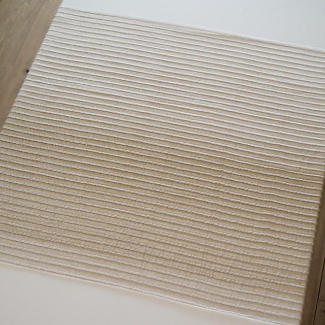 ポリエステル&ナイロン×ボーダー(ベージュグラデーション)×二重織 イメージ5