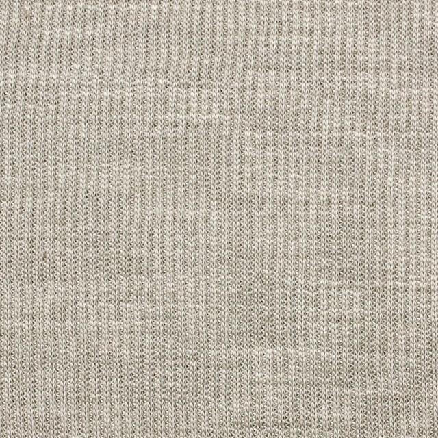 ポリエステル&リネン×無地(カーキベージュ)×ストライプニット_全4色 イメージ1