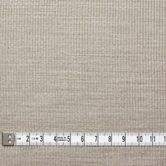 ポリエステル&リネン×無地(カーキベージュ)×ストライプニット_全4色 サムネイル4