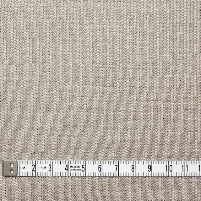 ポリエステル&リネン×無地(カーキベージュ)×ストライプニット_全4色 イメージ4