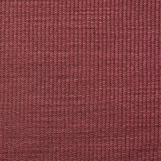 ポリエステル&リネン×無地(エンジ)×ストライプニット_全4色 イメージ1