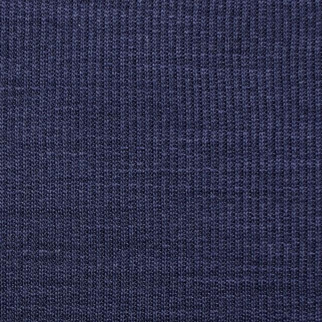 ポリエステル&リネン×無地(ネイビー)×ストライプニット_全4色 イメージ1