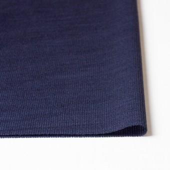 ポリエステル&リネン×無地(ネイビー)×ストライプニット_全4色 サムネイル3