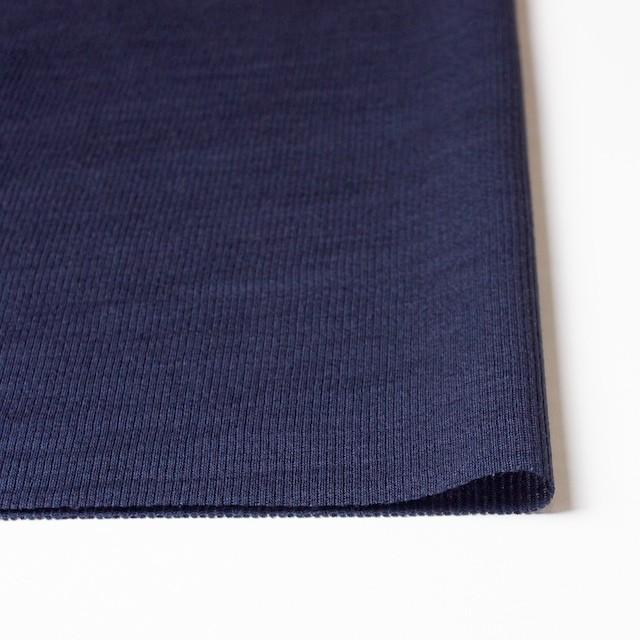 ポリエステル&リネン×無地(ネイビー)×ストライプニット_全4色 イメージ3