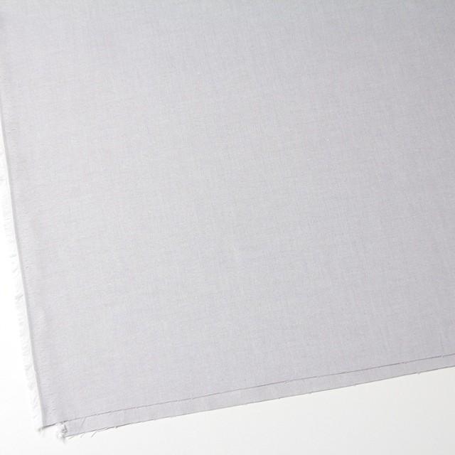 コットン×無地(ライトグレー)×オックスフォード・シャンブレー イメージ2