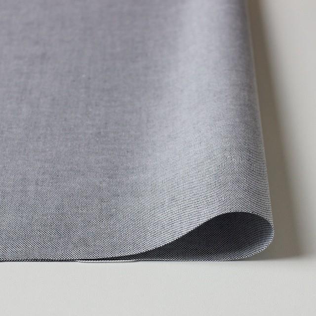 コットン×無地(ブラック)×オックスフォード・シャンブレー イメージ3