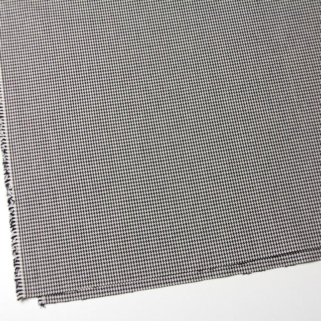 コットン×チェック(ブラック)×千鳥格子 イメージ2