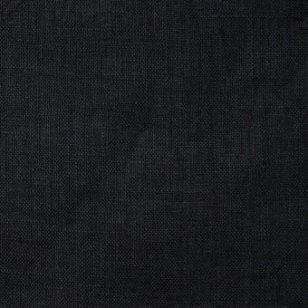 リネン×無地(ブラック)×ボイルワッシャー サムネイル1
