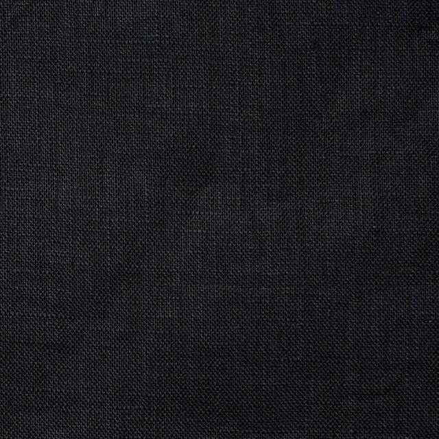 リネン×無地(ブラック)×ボイルワッシャー イメージ1