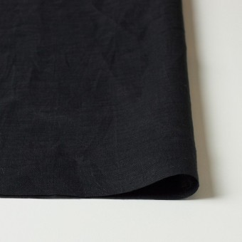 リネン×無地(ブラック)×ボイルワッシャー サムネイル3