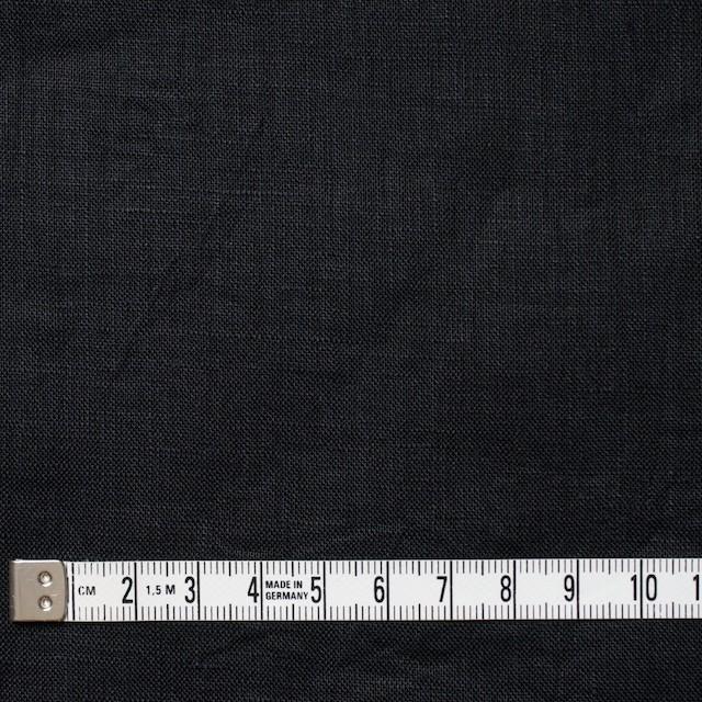 リネン×無地(ブラック)×ボイルワッシャー イメージ4