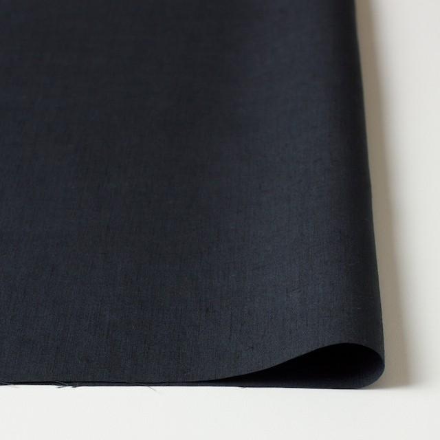 リネン×無地(チャコールブラック)×ブロード イメージ3