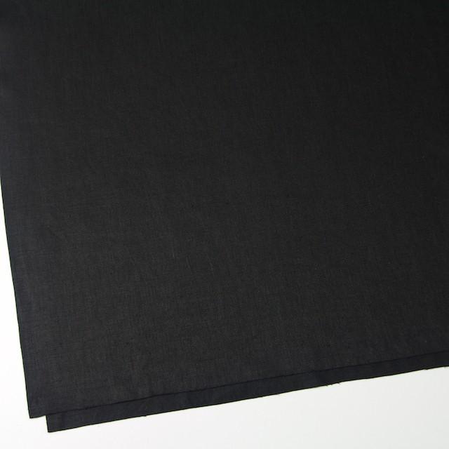 リネン×無地(ブラック)×オックスフォード イメージ2