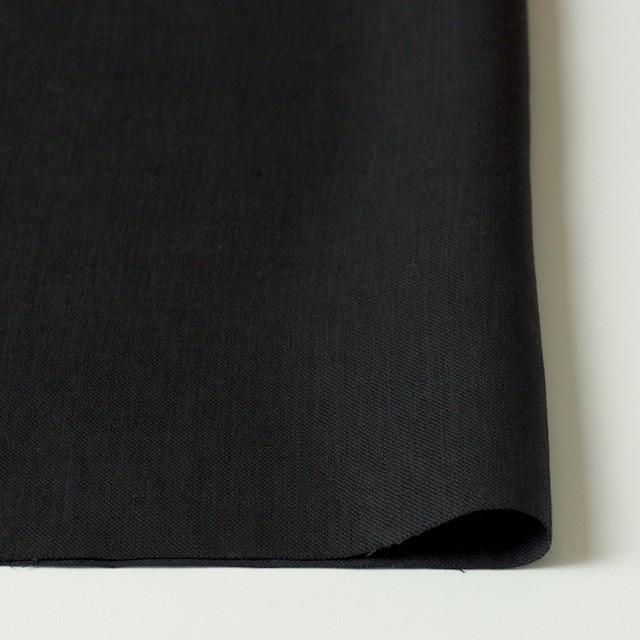 リネン×無地(ブラック)×オックスフォード イメージ3