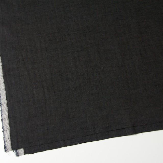 リネン×無地(ブラック)×ヘリンボーン_全2色 イメージ2