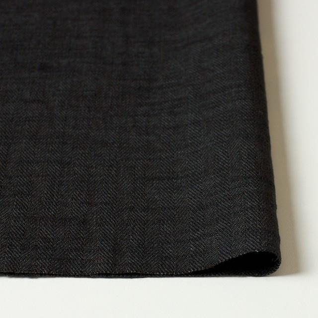 リネン×無地(ブラック)×ヘリンボーン_全2色 イメージ3