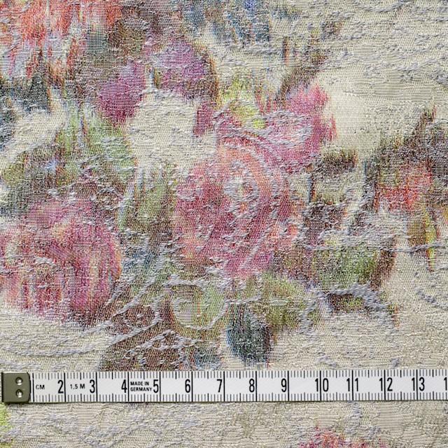 コットン&ポリエステル×フラワー(アイスグレー&キナリ)×ジャガード_全2色 イメージ4