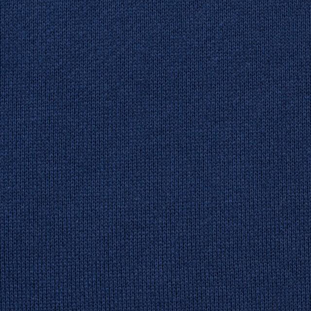 コットン×無地(ネイビーブルー)×裏毛ニット イメージ1