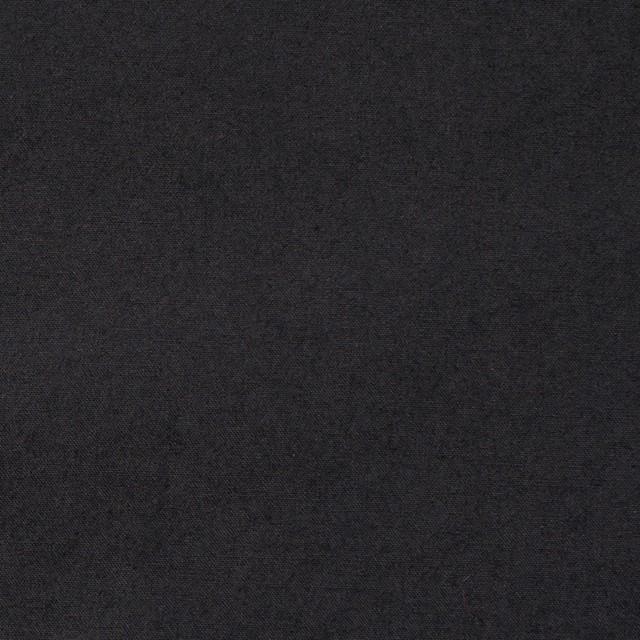 コットン×無地(ブラック)×ブロードワッシャー イメージ1