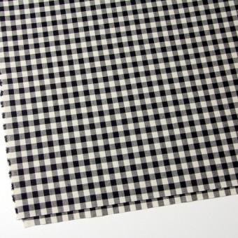 コットン×ブロックチェック(キナリ&ブラック)×シーチング_全4色 サムネイル2