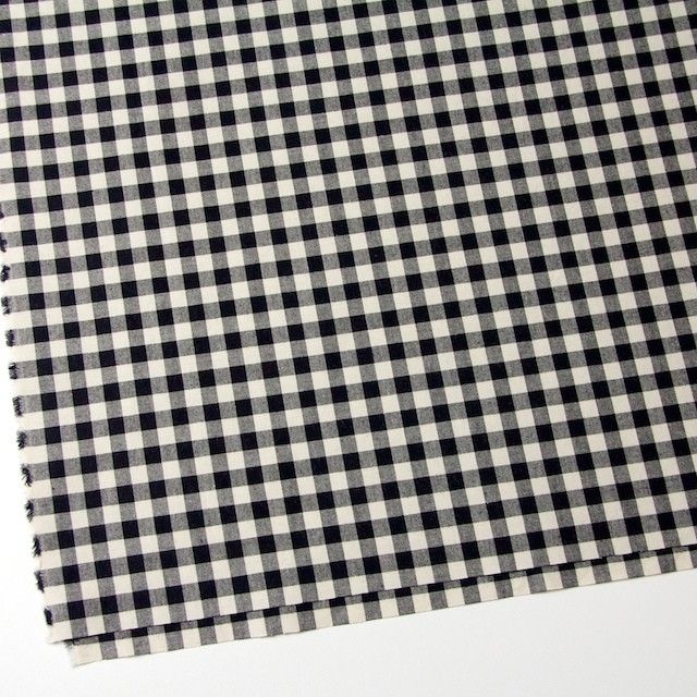 コットン×ブロックチェック(キナリ&ブラック)×シーチング_全4色 イメージ2