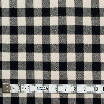 コットン×ブロックチェック(キナリ&ブラック)×シーチング_全4色 サムネイル4