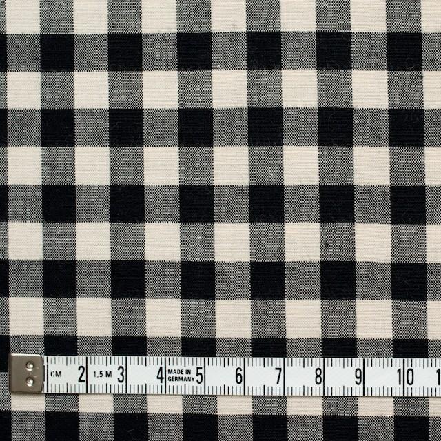コットン×ブロックチェック(キナリ&ブラック)×シーチング_全4色 イメージ4
