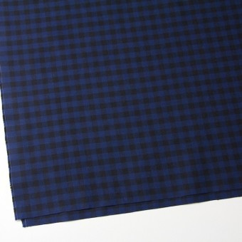 コットン×ブロックチェック(ブルー&ブラック)×シーチング_全4色 サムネイル2