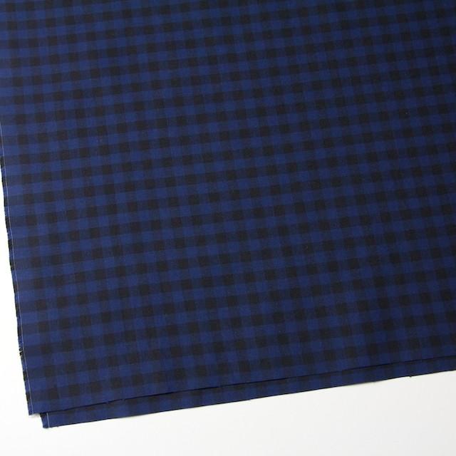 コットン×ブロックチェック(ブルー&ブラック)×シーチング_全4色 イメージ2