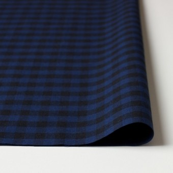 コットン×ブロックチェック(ブルー&ブラック)×シーチング_全4色 サムネイル3